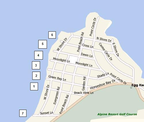 Map of Egg Harbor Shore Diving Points
